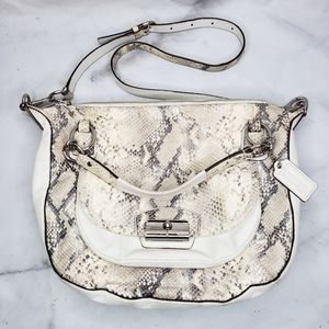 Coach Kristin Python embossed satchel purse